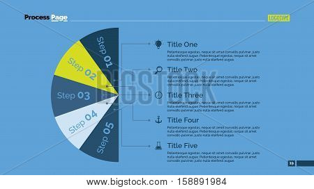 Process chart slide template. Business data. Graph, diagram, design. Creative concept for infographic, templates, presentation, report. Can be used for topics like teamwork, research, planning.