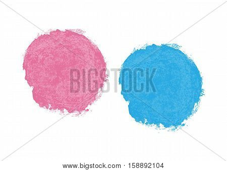 Blue and purple spot stain with pink streaks. Isolated stains painted with a brush.