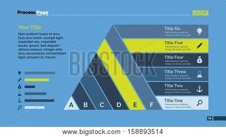 Process chart slide template. Business data. Graph, diagram, design. Creative concept for infographic, templates, presentation, marketing. Can be used for topics like management, production, teamwork.