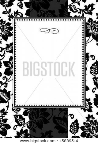 Vector decorative frame. Easy to scale and edit. Pattern is included as seamless swatch poster