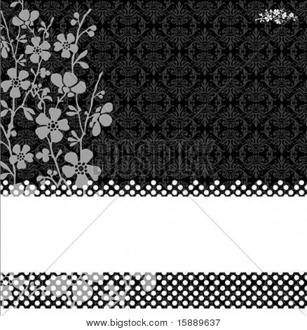 Vector floral background. Easy to scale and edit. Pattern is included as seamless swatch