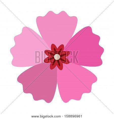 Rose of Sharon icon in flat style Mugunghwa - vector