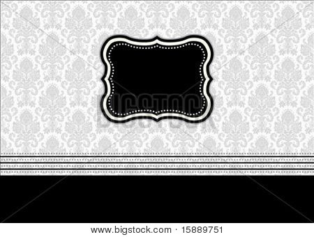 Vector ornate frame. Easy to scale and edit. Pattern is included as seamless swatch