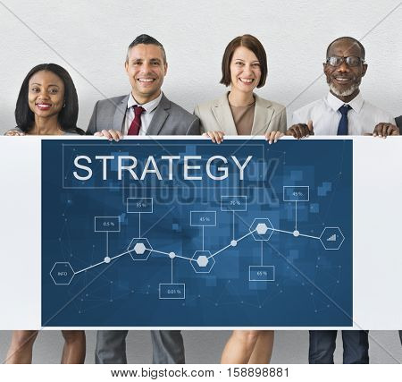 Business Strategy Corporation Enterprise Startup Concept