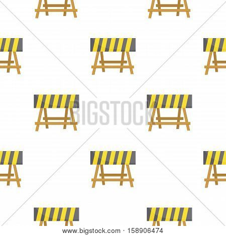 Construction barricade icon in cartoon style isolated on white background. Build and repair symbol vector illustration.