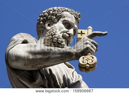 Italy Vatican City St. Peter's Square the Church of St. Peter sculpture