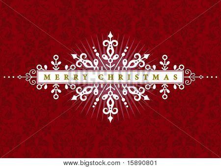Vector Christmas Ornamental Frame