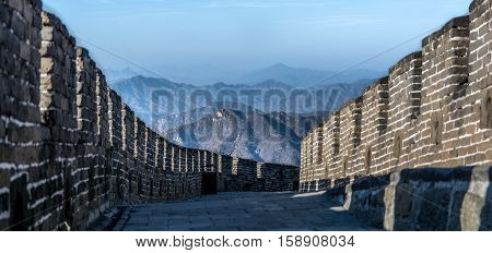 view across the great wall of china