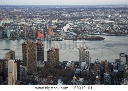 New York Manhattan USA Architecture houses bird's-eye view
