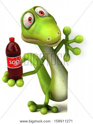 Fun lizard - 3D Illustration