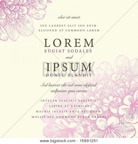 Vector ornate pastel frame. Easy to edit. Perfect for invitations or announcements.