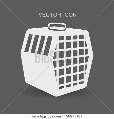 transporting the animals in a cage vector