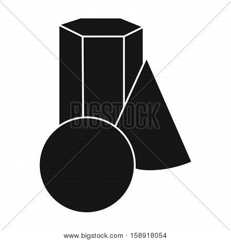 Geometric still life icon in black style isolated on white background. Artist and drawing symbol vector illustration.