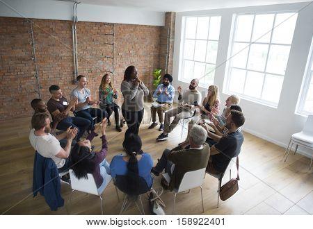 Networking Seminar Meet Ups Concept