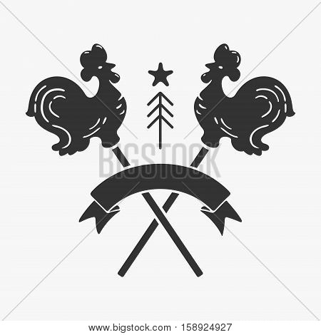 Vector Symbol Rooster Lollipop New Year eps 8 file format