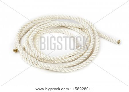 Roll of rope isolated on white background