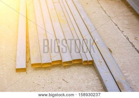 Steel box girder . Used for construction
