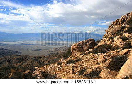 View from Inspiration Mountain, Joshua Tree National Park