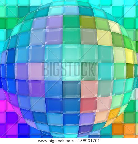Abstract background of the pastels gradient with visual spherize,cubism,mosaic and plastic wrap effects,good for your project design