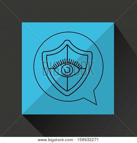 eye surveillance protection shield vector illustration eps 10
