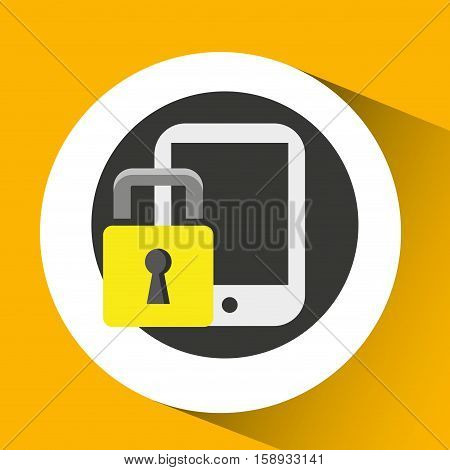 silhouette men smartphone internet safety vector illustration eps 10