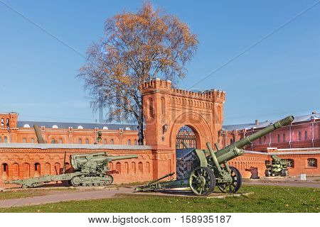 ST. PETERSBURG RUSSIA - OCTOBER 24 2016: Military Historical Museum of Artillery Engineers and Signal Corps it is a state-owned military museum in Saint Petersburg.