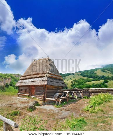 Cabin Of Poor Peasant On Picturesque Highlands