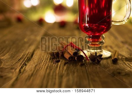 Single Glass Of Hot Mulled