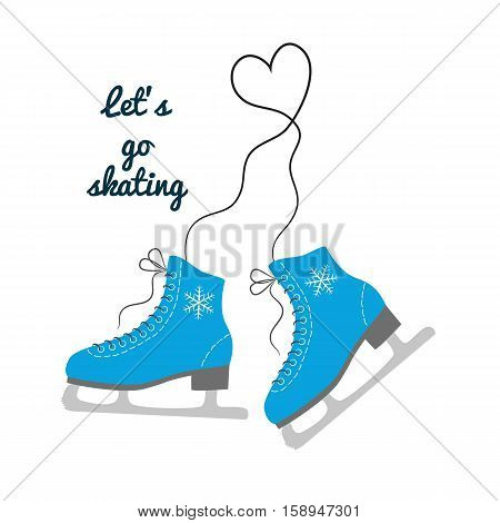 The skates icon with text