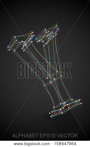 Abstract illustration of a Multicolor sketched Y with Reflection. Hand drawn 3D Y for your design. EPS 10 vector illustration.