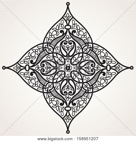Vector Ornament In Eastern Style.