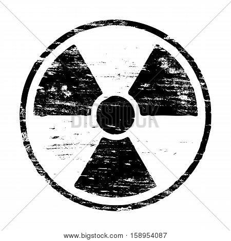 Radiation symbol grungy rubber stamp symbol vector illustration