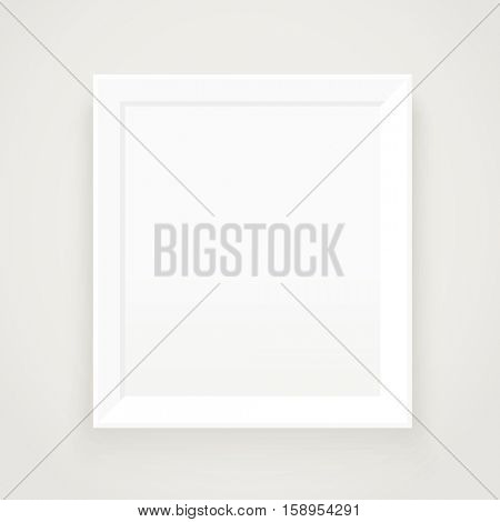 Photorealistic picture frame. Presentation vector template