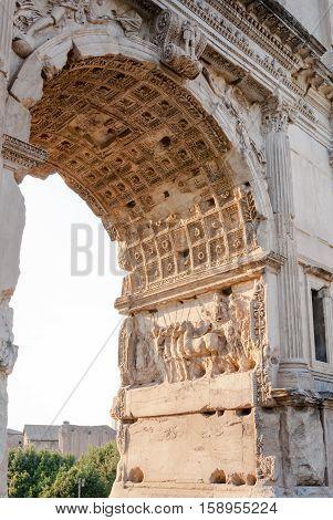 Arch of Titus on the Via Sacra Rome Italy