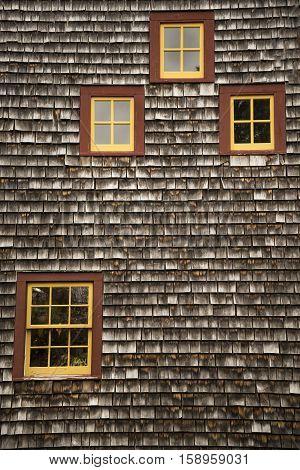 Detail of New England Farm House, RI USA
