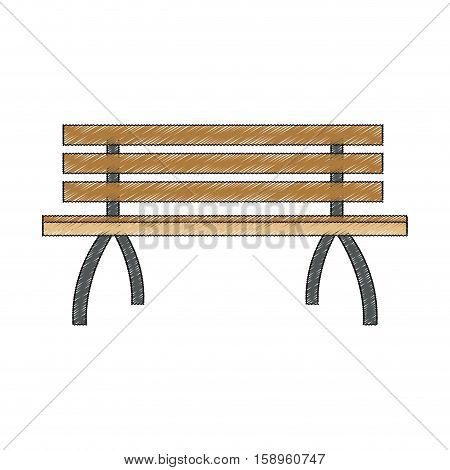 Bench of park icon. Outdoor season summer and recreation theme. Isolated design. Vector illustration