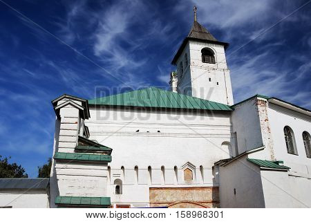 Holy Transfiguration monastery in Yaroslavl Russia. UNESCO World Heritage Site.