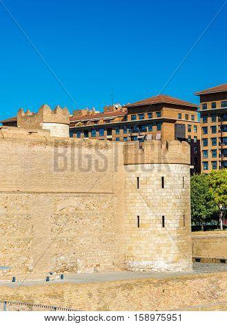 Aljaferia, a fortified medieval Islamic palace in Zaragoza - Spain