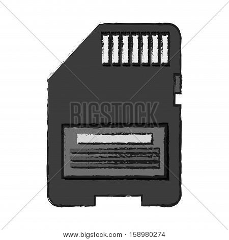Memory stick icon. Device gadget technology and electronic theme. Isolated design. Vector illustration