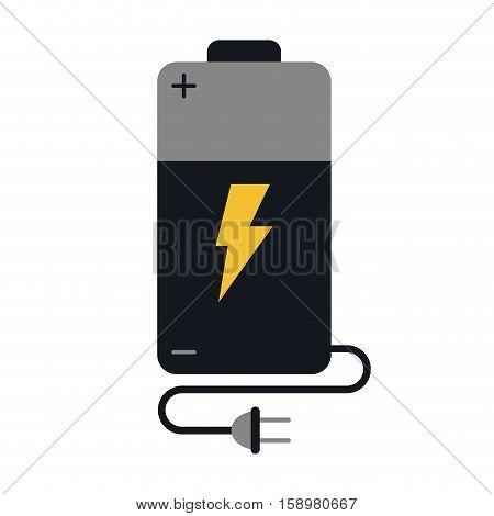 battery charge alkaline lighting cable plug vector illustration eps 10