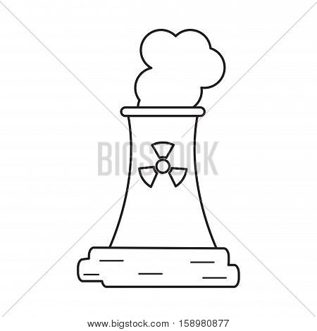 pictograh nuclear power station energy pollution vector illustration eps 10