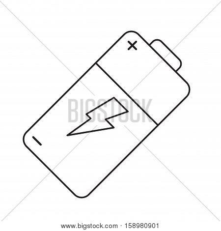 pictogram battery charge alkaline lighting vector illustration eps 10