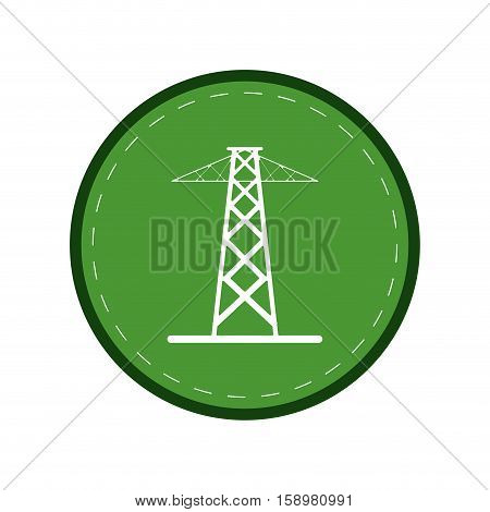 electrical tower transmission energy power green circle vector illustration eps 10