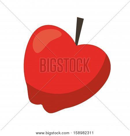 red apple taste fruit nature icon vector illustration eps 10