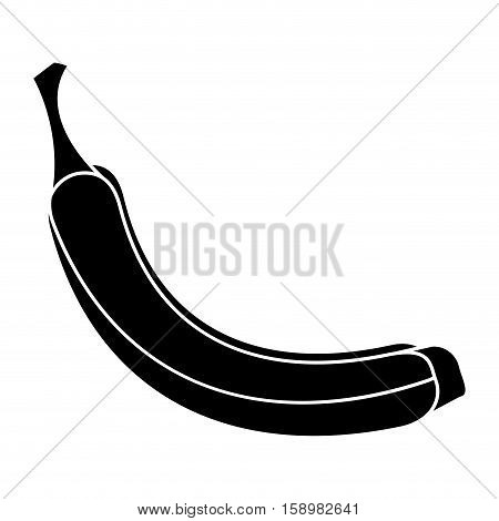 banana appetizing fruit nature silhouette vector illustration eps 10
