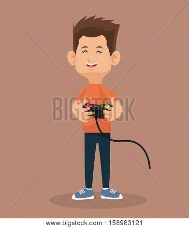 player video game holding control vector illustration eps 10
