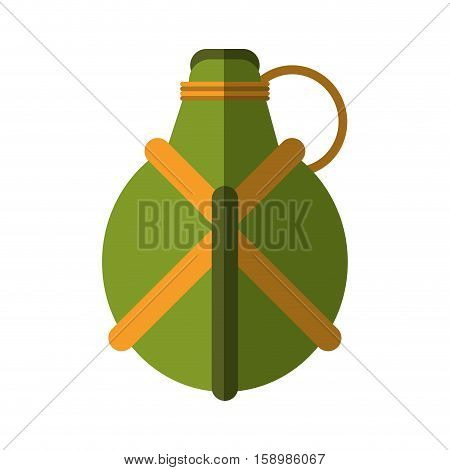 water green cateen equipment camping vector illustration eps 10