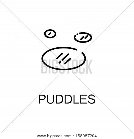 Puddles flat icon. Single high quality outline symbol of spring for web design or mobile app. Thin line signs of puddles for design logo, visit card, etc. Outline pictogram of puddles