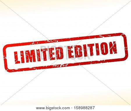 Illustration of limited edition stamp on white background