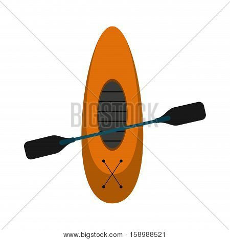 kayaking board oar recreation camping vector illustration eps 10
